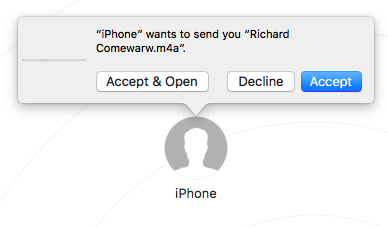 AirDrop Voice Memos from iPhone to Mac