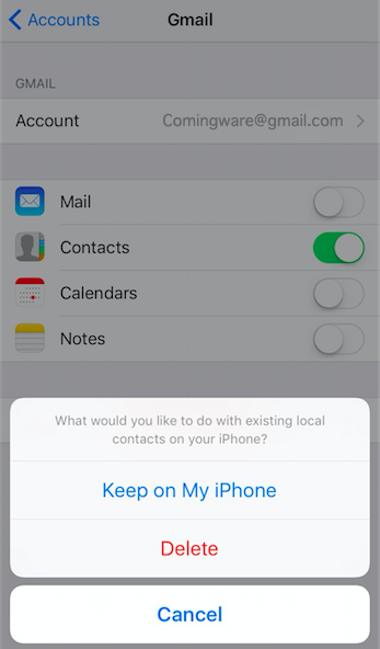 Transfer Gmail Contacts to iPhone