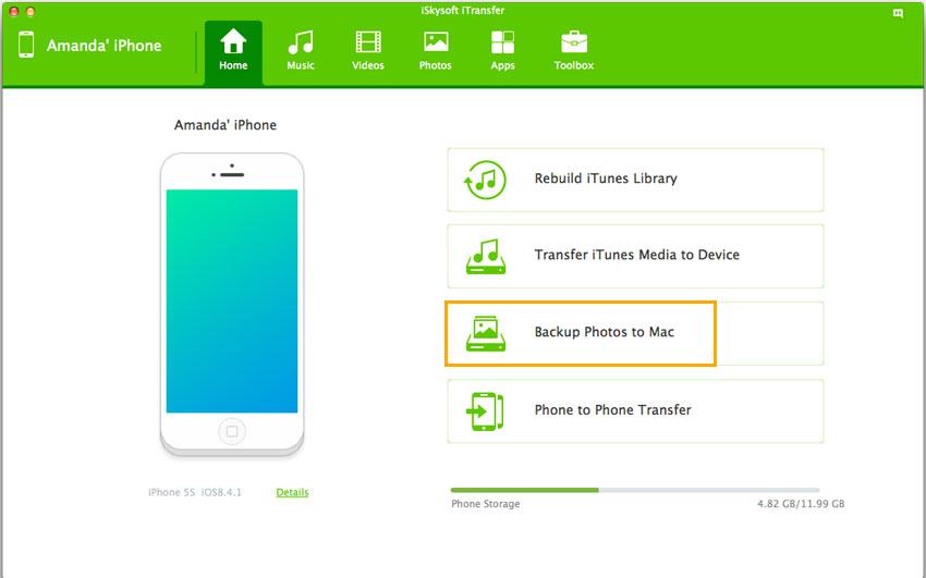 Backup photos to Mac - iTransfer iPhone transfer