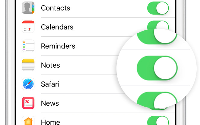 Sync Notes with iCloud