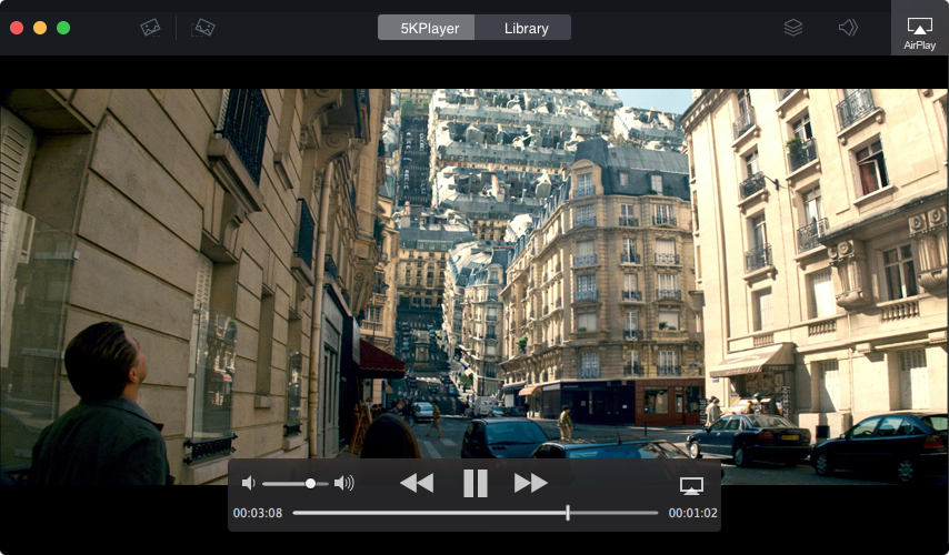 Play HD media file with 5K player
