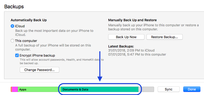 Documents & Data takes up over 50% of my iPhone 8 storage