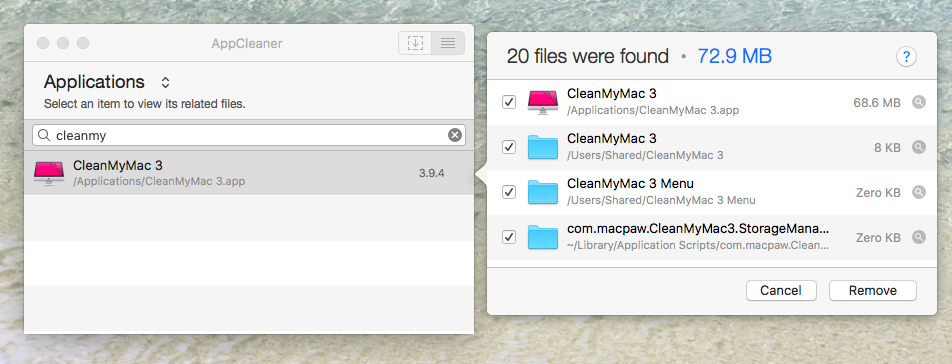 Free App Uninstaller for Mac - AppCleaner