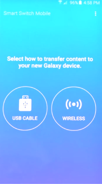 Wireless transfer data from iOS to Galaxy