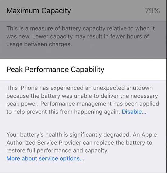 At what battery health status should you replace your iPhone battery
