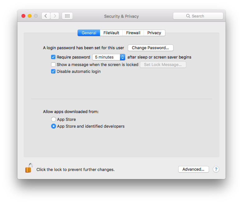 Allow apps installed on Mac