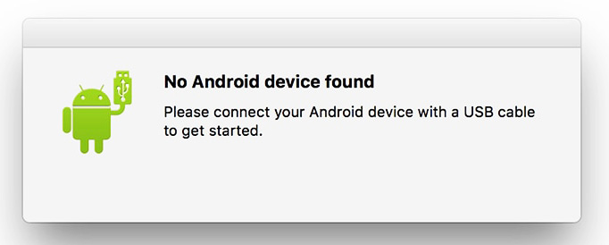 No Android Device Found Error - Android File Transfer