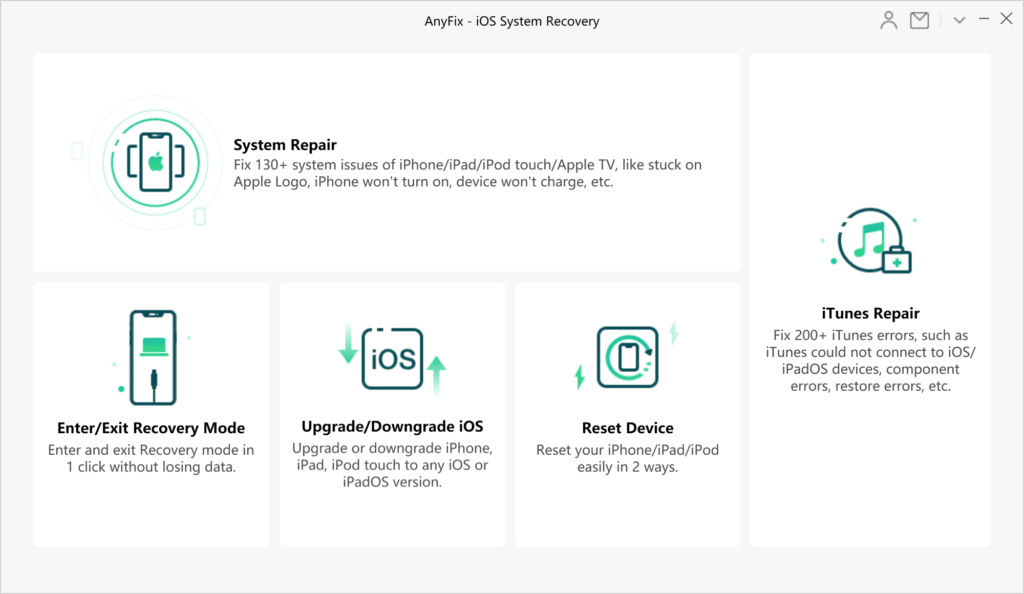 AnyFix iOS System Recovery