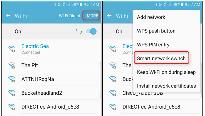 Turn off Smart Network Switch